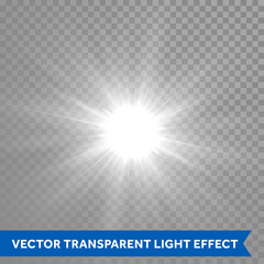 Shining and glowing sun light effect. Star explosion outburst