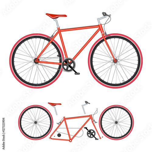 Vector  Bicycle parts ...