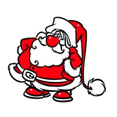 Santa Claus cartoon illustration isolated image character
