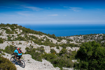 Sardinia between mountains and sea - Riding mountain bike