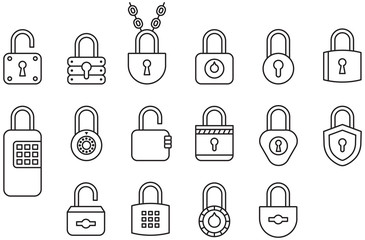 PADLOCKS outline icons