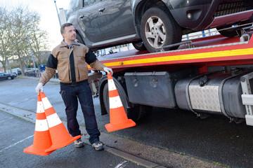 loading a car