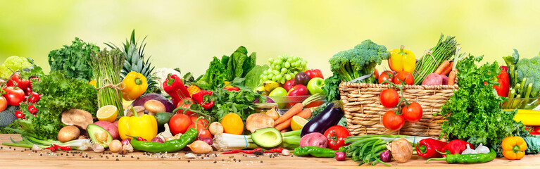 Fototapeta Organic vegetables and fruits obraz