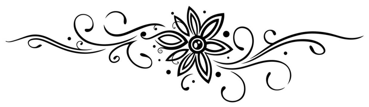 Ranke mit filigraner großer Blüte. Dekoration.