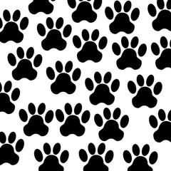 seal with animal footprint vector illustration design