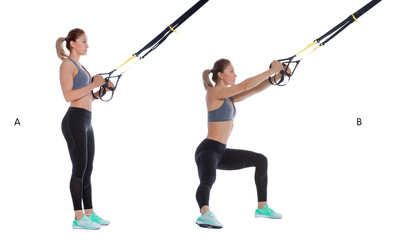 Suspension cable step side lunge
