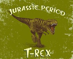 Angry tyrannosaur rex