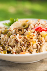 Insalata di riso integrale, brown rice salad