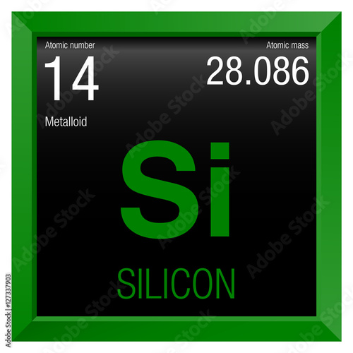 Silicon Symbol Element Number 14 Of The Periodic Table Of The