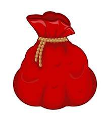 santa money bag, sack vector symbol icon design.