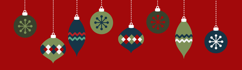 Christmas Ornaments Banner