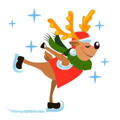Poster Ridders christmas deer