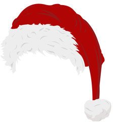 Red isolated Christmas hat