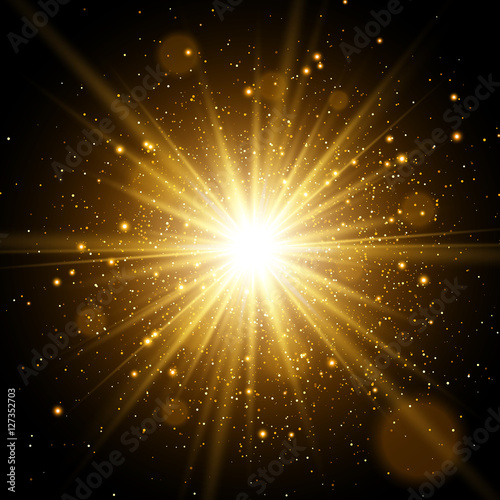 "Lighting Black Background >> ""Light effect. Star burst with sparkles. Gold glitter texture"" Stock image and royalty-free ..."