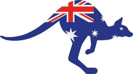 Australia flag kangaroo