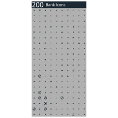 set of 200 app icons