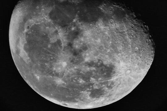 Moon Closeup (black and white)