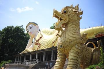 big Buddha of Wat Phra That Suthon Mongkol Khiri Temple in Phrae, Thailand