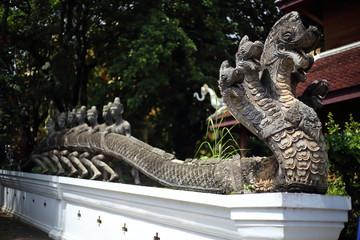 Naga statue of Wat Phra That Suthon Mongkol Khiri Temple in Phrae, Thailand