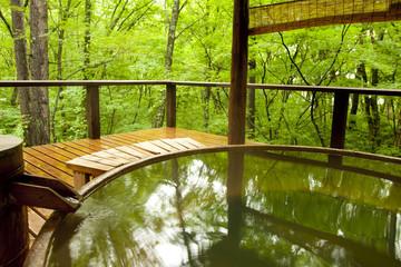 森林浴の露天風呂