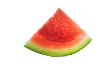 Wall Mural - Slices of watermelon on white background