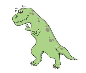 dinosaur flexing his biceps