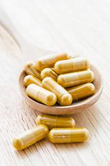 Alternative medicine tablets.