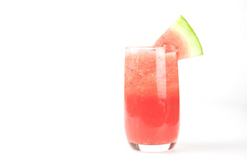 Wall Mural - watermelon juice on white background