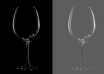 A glass for wine