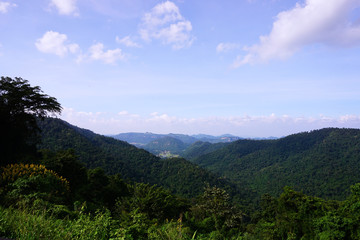 Top view of mountain at Kaoyai National Park, Thailand