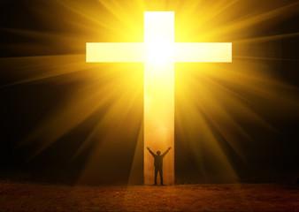 The man thank God Cross and light