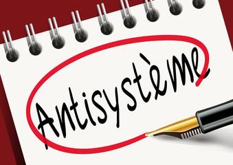 Antisystème - Politique - élection