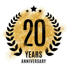 Twenties years gold anniversary.