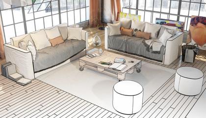 Postindustrial Penthouse Loft (conception)