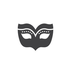 Masquerade mask icon vector, filled flat sign, solid pictogram isolated on white, logo illustration