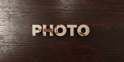 Photo - grungy wooden headline on Maple  - 3D rendered royalty free stock image. This image can be used for an online website banner ad or a print postcard.