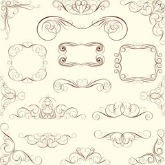 Collection swirl ornaments