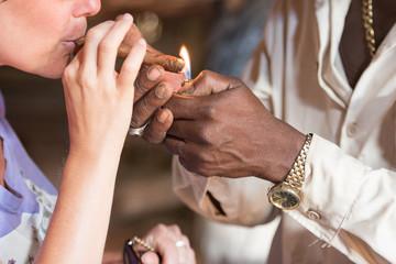tobacco and cigar in cuba