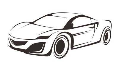Line Drawing Of Car : Blueprint of suv contour drawing car on a white background