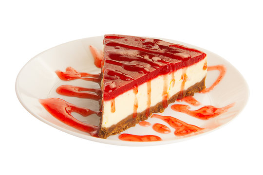 delicious cheesecake with strawberries