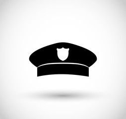 Police hat icon vector