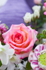 Closeup roses bouquet