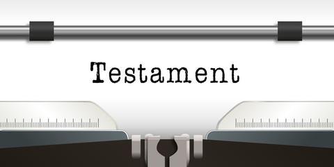 Testament - Héritage - Machine à écrire