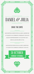 Great Quality Style Invitation in Art Deco or Nouveau Epoch 1920