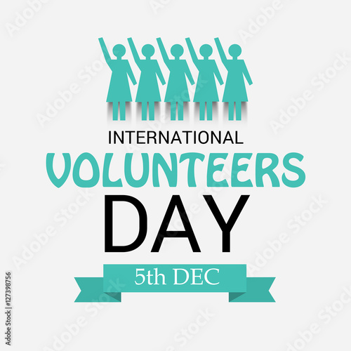 """International Volunteers Day"" 스톡 사진, 로열티프리 이미지 : Fotolia ..."