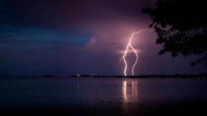 Lighting storm, Jamaica