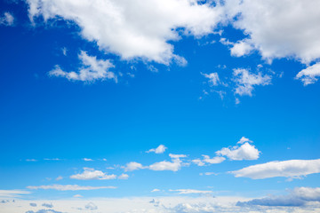 Blue sky with white clouds in a summer day