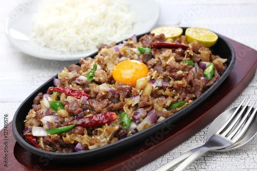 "sizzling pork sisig, filipino cuisine"" Stock photo and royalty-free ..."