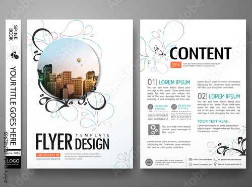 portfolio design template vector layout minimal brochure flower
