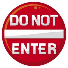 do not enter warning sign
